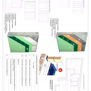 Zaprawa murarska rysunek lub schemat montażu izolacji akustycznej